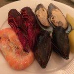 Cold fresh shellfish