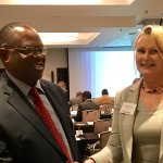 ACDP MP Cheryllyn Dudley with Zimbabwe MP Hon Moyo @recentconference