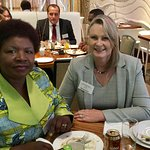 Lunch in the Freah Restaurant with fellow delegate & Zambian MP