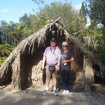 Wife & I at the Geothermal Village in Rotorua