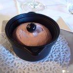 pré dessert à la myrtille, offert