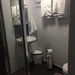 One of our very clean stylish ensuite bathrooms