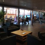 Lounge area, outdoor area plus pool table
