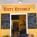The bright and airy RUSTY KEYHOLE is a regular favourite restaurant