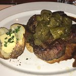 Fillet steak with jalapeno topping