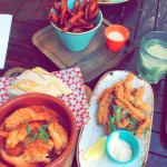 Gambas, Calamares & Sweet Potato Fries