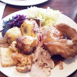 Toby's carvery roast pork and gammon.