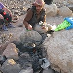 Our guide making tea on the Sunet walk