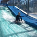 Fun on the surf simulator!