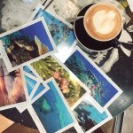Spent a morning with great coffee and postcards