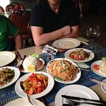 Sweet and Sour Seafood, Coconut Rice, Pad Thai, Garlic Rice