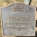 3 comboys plaque on main street
