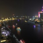 View of the Bund from our table!