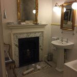 Victoria room. Lovely fireplace in the bathroom.  Children's room a bit ad hoc with improvised s