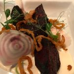 Grilled beets appetizer