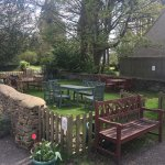 The lovely beer gardens and play area