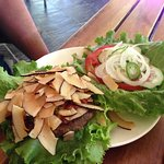 The Coco Bacon burger on lettuce instead of a bun! Delicious, messy, but worth it.
