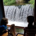 Our kids love to sit by the waterfall