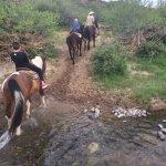 Fun time crossing the creek!