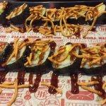 Shrimp Tempura Sushi with Teriyaki sauce