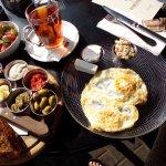 My huge Israeli breakfast.