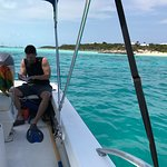 Husband snorkeling