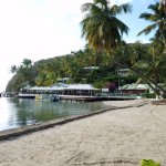 View of Marigot Beach and Dive Club from the Beach
