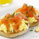 Smoked salmon, the perfect start to the day