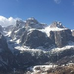The fabulous Dolomites can be viewed from your window or balcony.