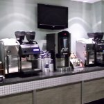 One of the many self service coffee bars