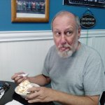 My husband did not want to be disturbed for his photo, his sundae was so good.