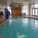 Fun pool and hot tub, indoor.