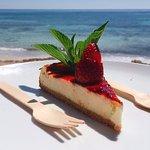 Cheesecake muy rico! La vista super bonita