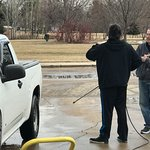 Car/Truck washing on the driveway with Bill. Spring YEAH!!