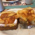 Cinnamon Apples on French Toast
