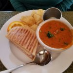 Cuban Sandwich and Hungarian Mushroom Soup