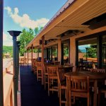 Grab a seat on the upstairs deck and enjoy the view of Harvey's Lake!