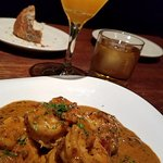 BBQ Shrimp and the Thai Basil martini