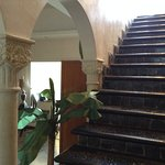 Stairway to upper balconey