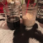 $1.00 root beer floats with your entree.