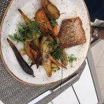 Red Snapper with roasted vegetables