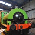 Inside the restoration sheds