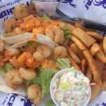 Kid's cheeseburger, kids Hot dog, Fish & Chips, and shrimp tacos! Great food and Ambiance. With