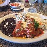 shrimp enchilada dinner. delicious.