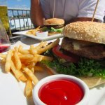 The first beef burger (when I ordered one on a Monday i had a HUGE serve of fries!)
