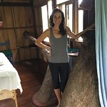 The tree house massage room (and its brilliant practitioner).