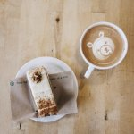 Carrot Cake and a Latte, what better way to spend a monday afternoon