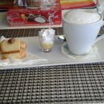 Special Cappucino - desert on the side and a likeur