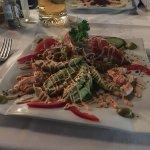 Shrimps mit Avoccado, sehr lecker
