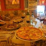 Pizza and tagliatelle